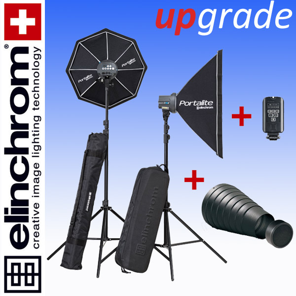 Elinchrom D-LITE RX ONE/ONE Softbox To Go Set (100/100Ws) + Spotvorsatz + Wabe