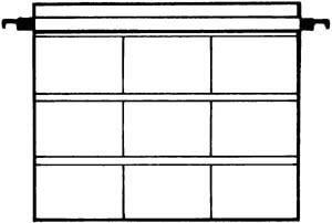 Kenro Dia-Archivhüllen für 9 ungerahmte 6x9cm Dias, ohne Schienen