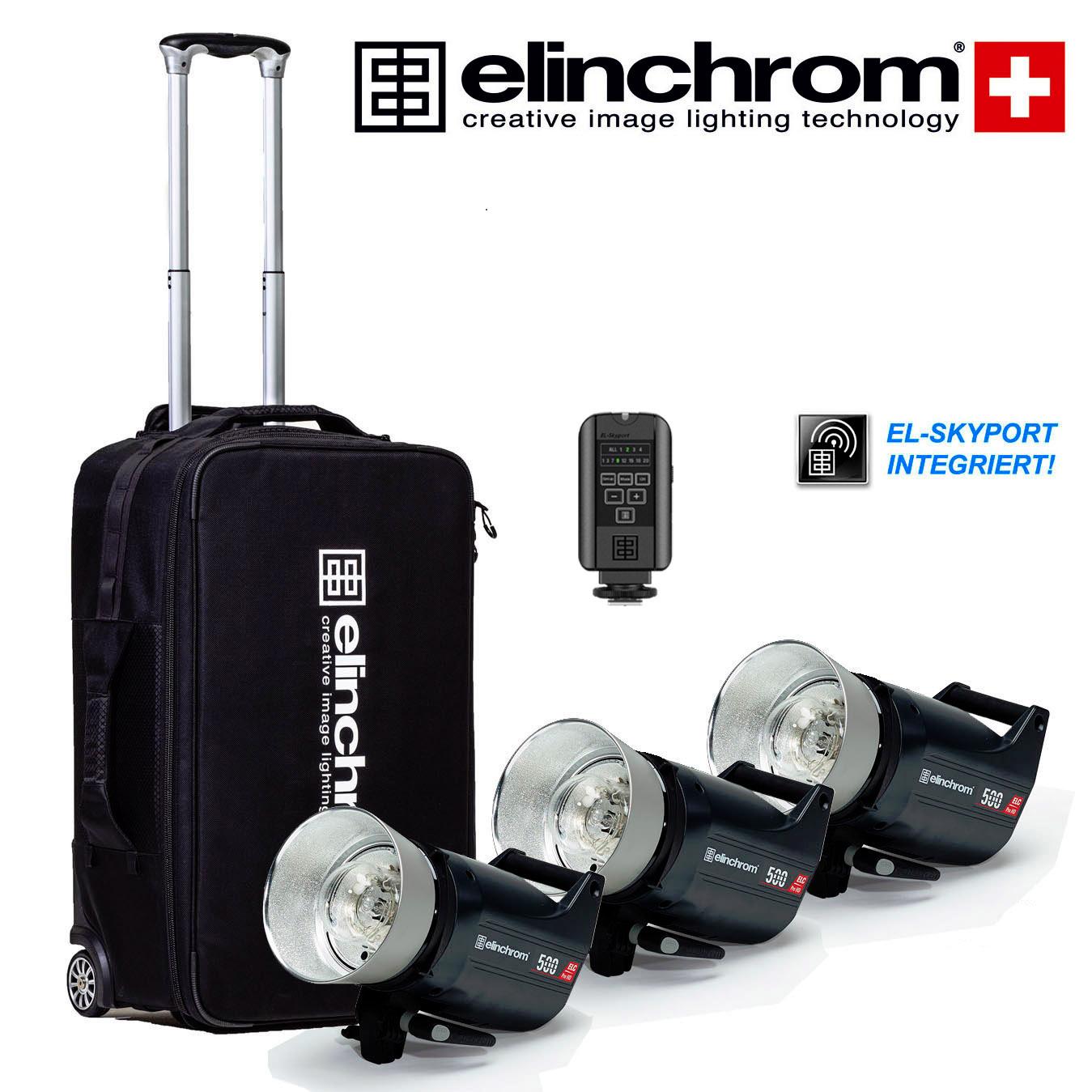 Elinchrom ELC Pro HD 500/500/500 Master Studio Set (500/500/500 Ws)