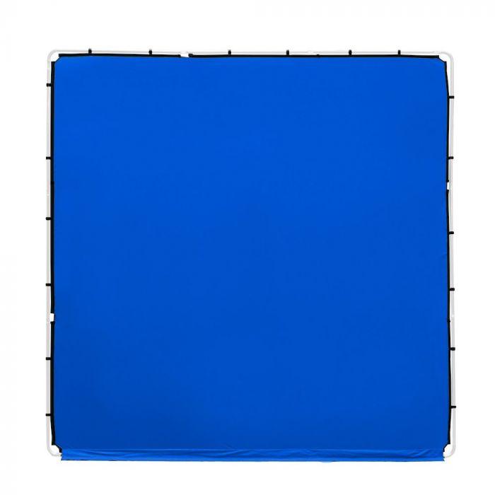 Lastolite knitterfreie Bespannung für StudioLink Chroma Key Kit 3x3m, Bluebox blau, LL83352