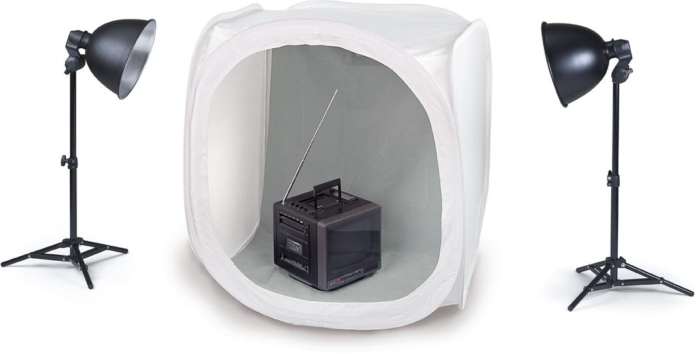 KAISER Desktop-Aufnahme-Set mit Cube-Studio 90x90x90cm