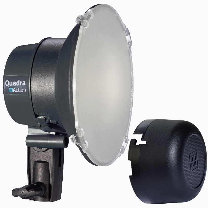 Elinchrom Quadra und ELB 400 ACTION Lampenkopf A --ACTIONFREEZE-- mit LED Einstelllicht