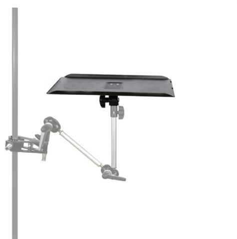 Notebookhalter mit Spigot-Anschluss für Leuchtenstative