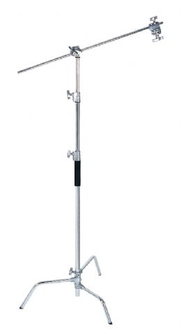 C-Stand 115-245cm, inkl. Boom-Arm 100cm mit 2 Neigegelenken