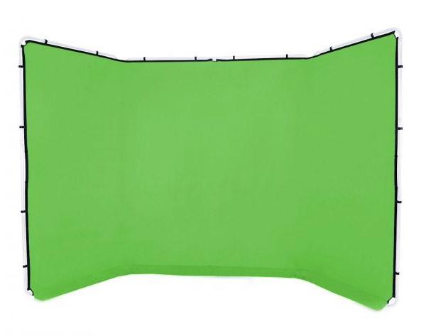 Lastolite knitterfreie Bespannung für Panorama Hintergrundsystem 4 x 2,3m, Greenbox grün