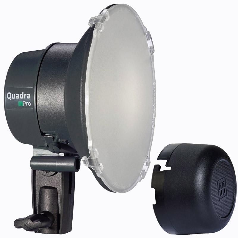 Elinchrom Quadra und ELB 400 PRO Lampenkopf S mit LED Einstelllicht