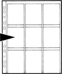 Kenro Dia-Archivhüllen für  9 ungerahmte 6x7cm Dias