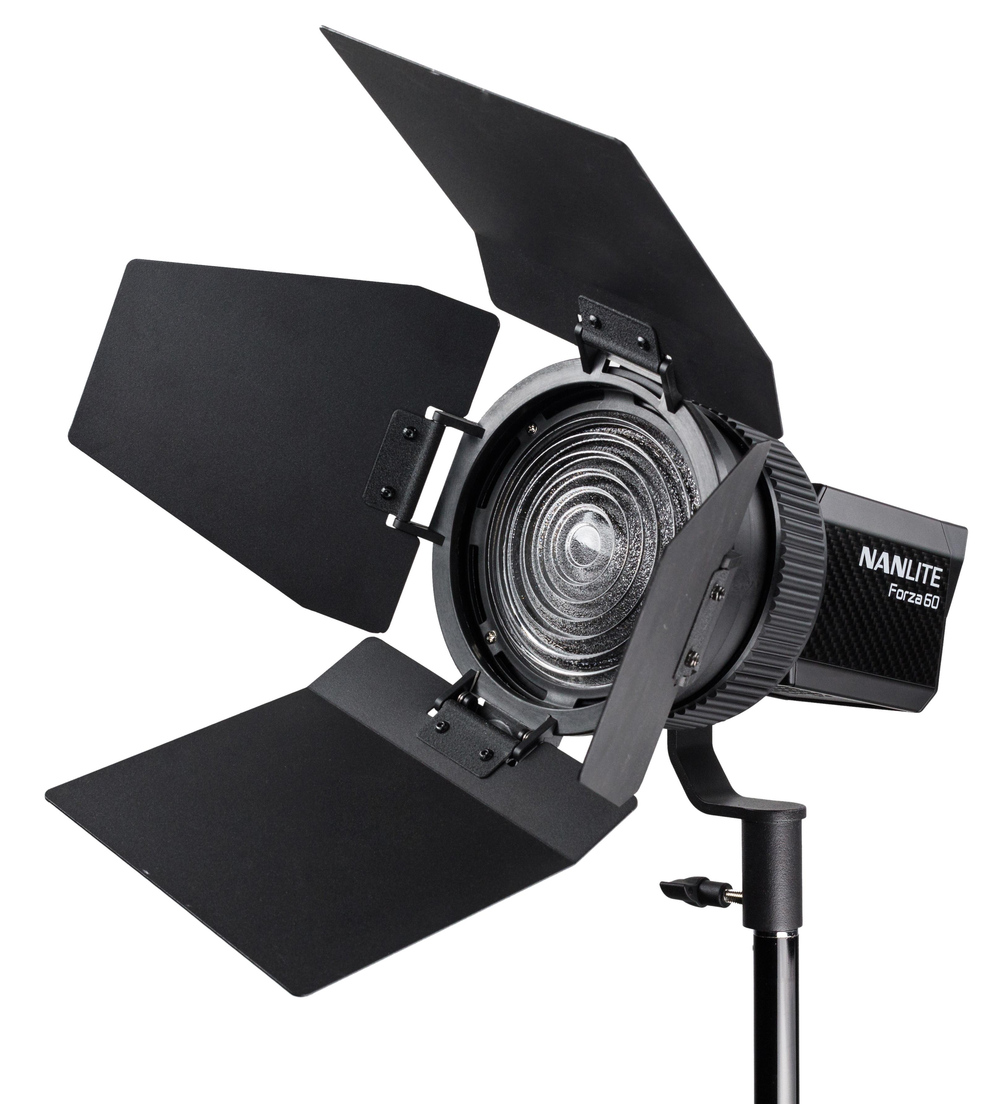 KAISER NANLITE Fokussierbarer Fresnel-Vorsatz 15-45° mit Abschirmklappen