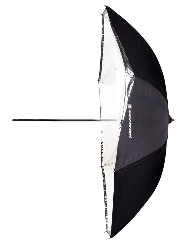 Elinchrom 2-in-1 Studioschirm ø 85cm weiß-reflektierend/transparent, umrüstbar
