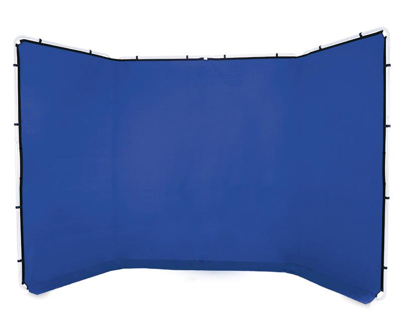 Lastolite knitterfreie Bespannung für Panorama Hintergrundsystem 4 x 2,3m, Bluebox blau, LL7963