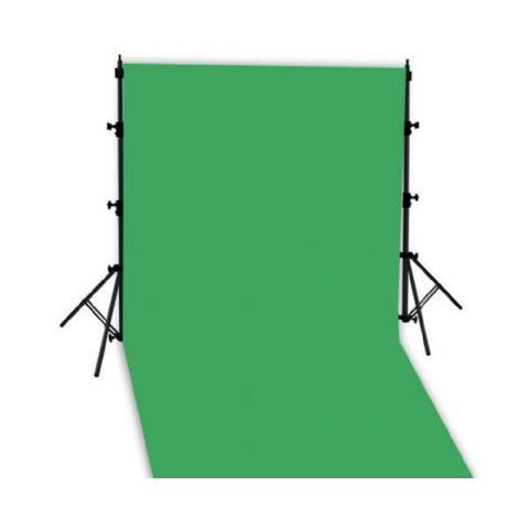 Mobiles Hintergrundset mit Teleskopständer + Stoff grün 2,9x5m