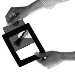 Kenro Trannypack Diahüllen mit schwarzem Rand für Kleinbild Dia