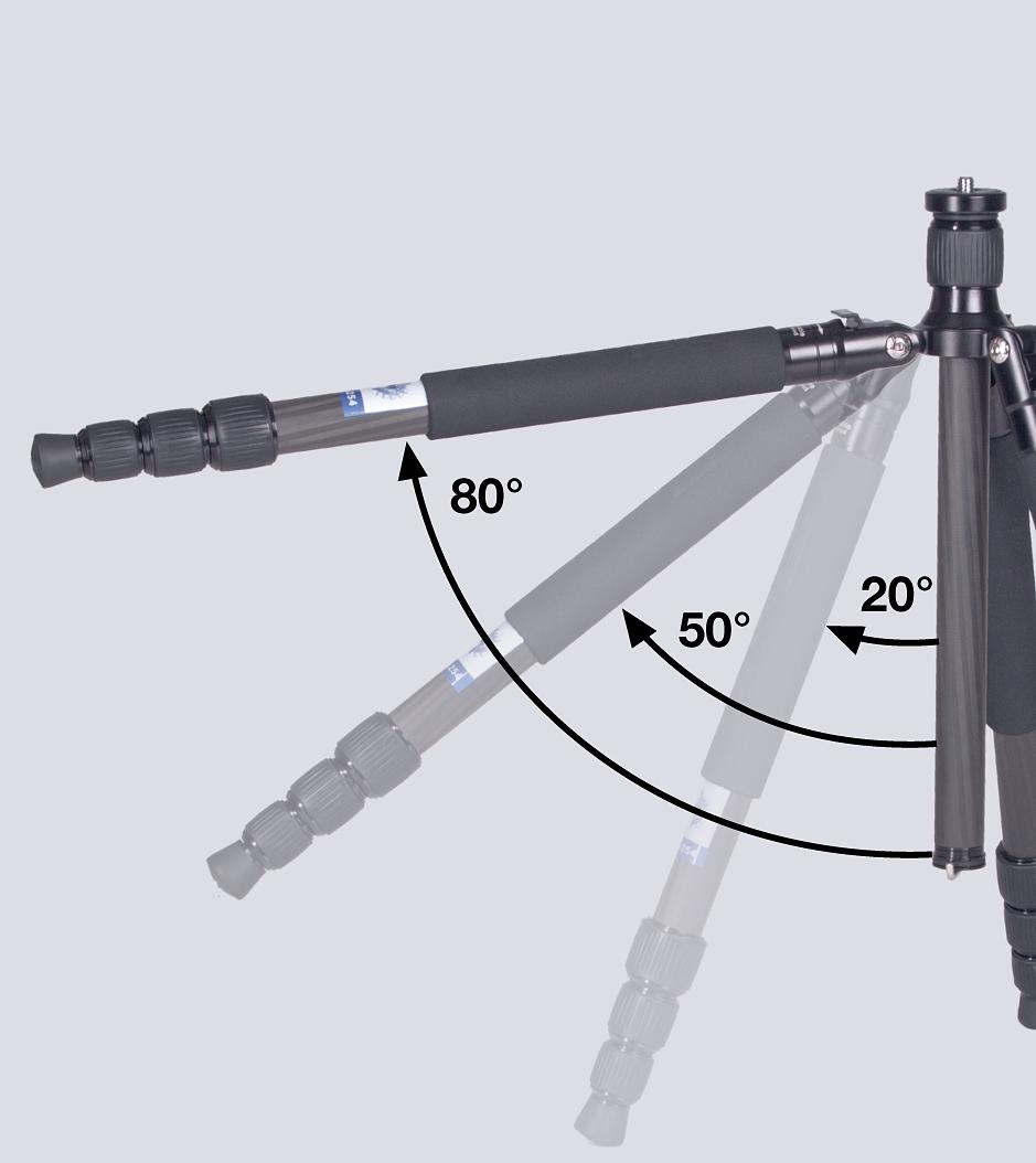 TILTALL Kamerastativ mit integriertem Einbeinstativ TE-284