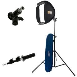 Lastolite Ezybox Hotshoe Kit 38x38cm inkl. Blitzschiene, Stativ, Neigekopf, Haltegriff 24-48cm, Tasc