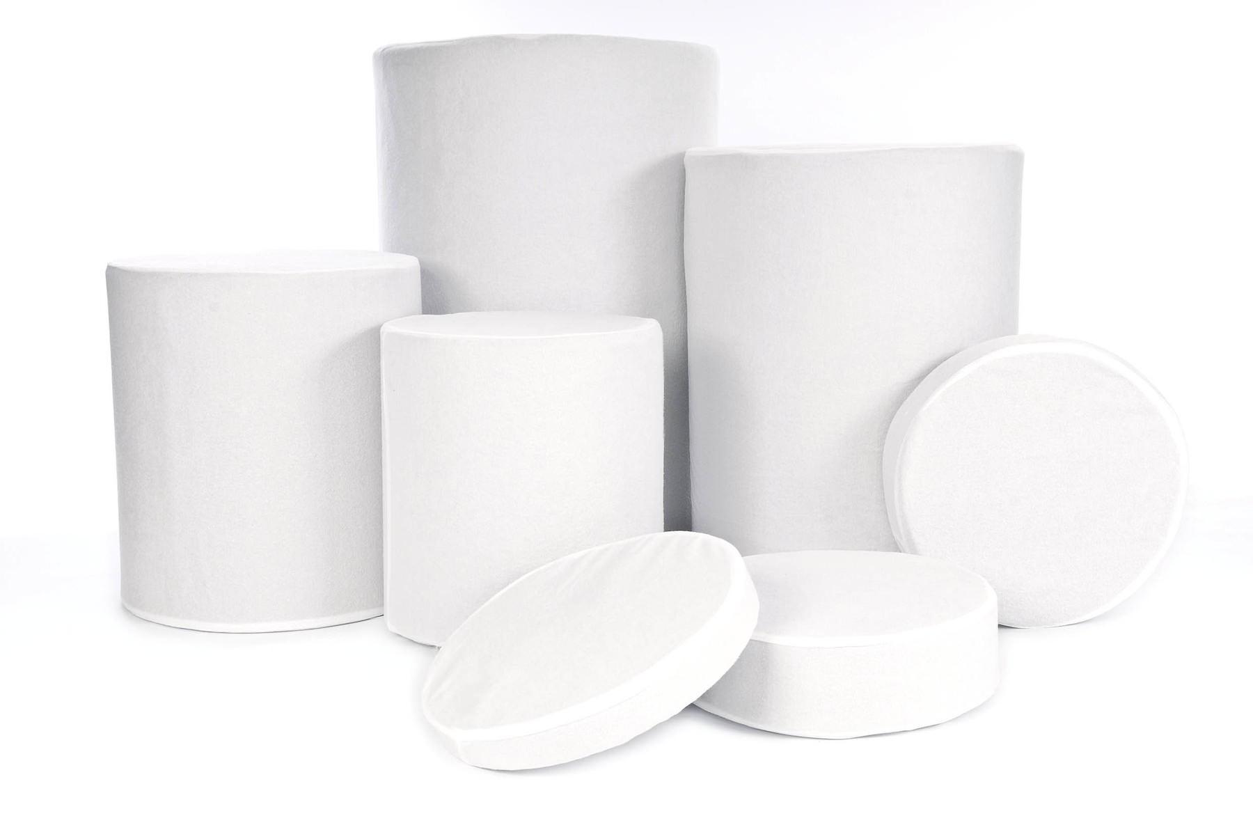 Lastolite Posing Tubs Überzüge, weiß, für LL8014