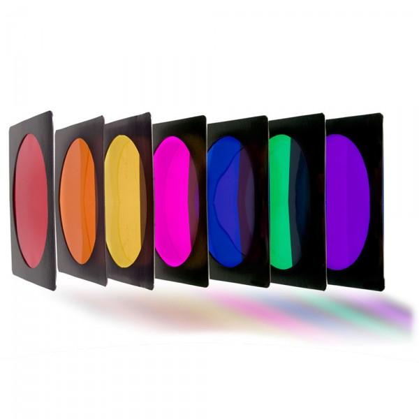 Farbfilterset - 7 Filter sortiert (max. 250W)