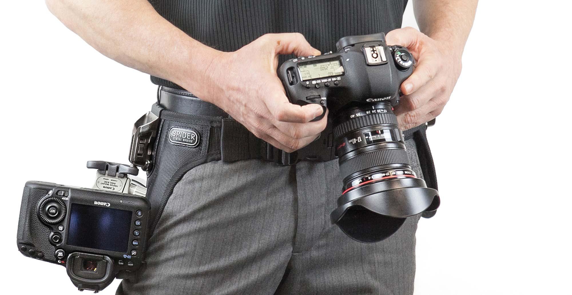 SPIDER PRO v2 Dual Camera System – Hüft-Tragesystem mit Hüftgurt und Holster für 2 prof. DSLRs