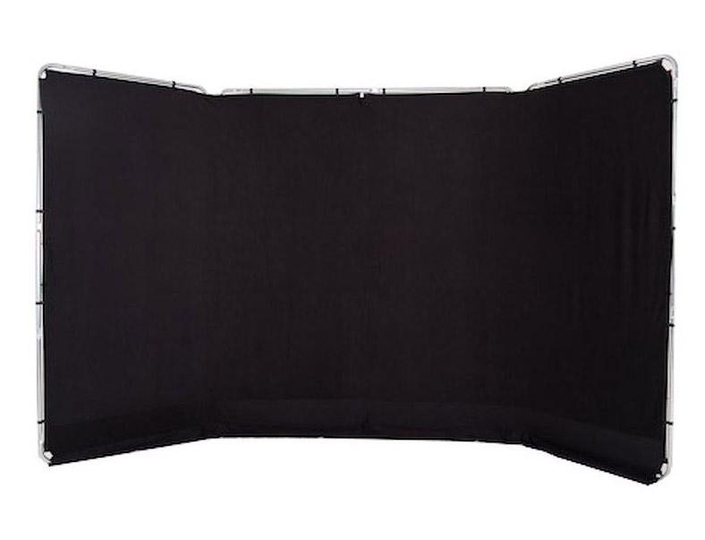 Lastolite Panorama Hintergrundsystem 4 x 2,3m, schwarz
