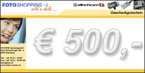 Geschenkgutschein im Wert von EUR 500