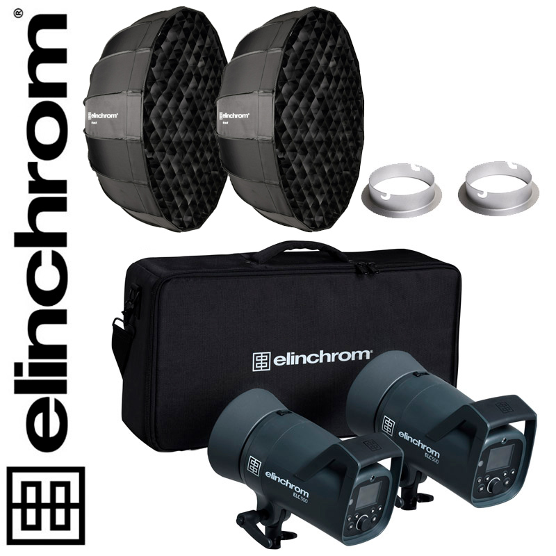 Elinchrom ELC 500/500 TTL Dual Octa Softbox Set