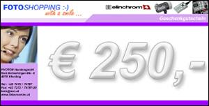 Geschenkgutschein im Wert von EUR 250
