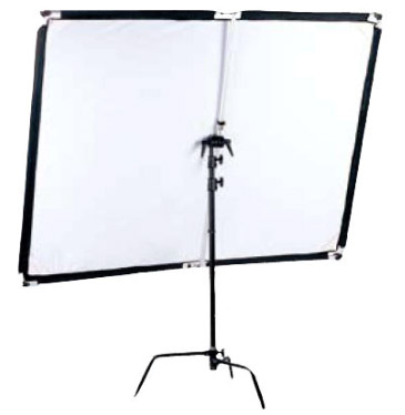 POP-UP Flächenreflektor Set 100x150cm silber/weiß
