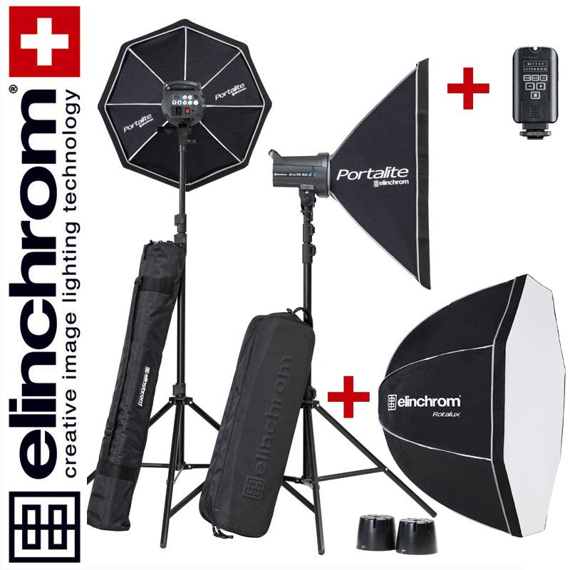 Elinchrom D-LITE RX 4/4 TO GO SET (400/400Ws) + Rotalux DEEP 100cm Softbox