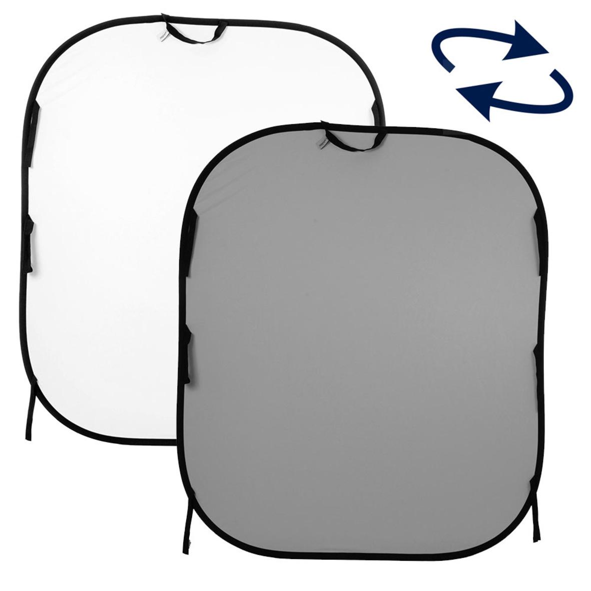 Lastolite Twist Flex Hintergrund 1,5 x 1,8m grau / weiß