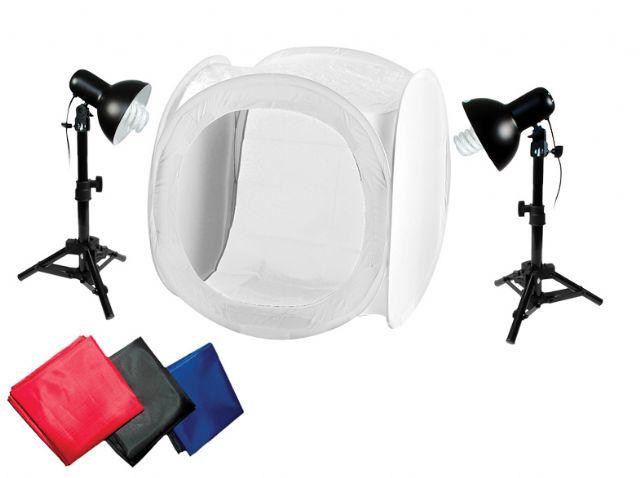 Produktfoto-Set mit Lichtzelt 75x75x75cm
