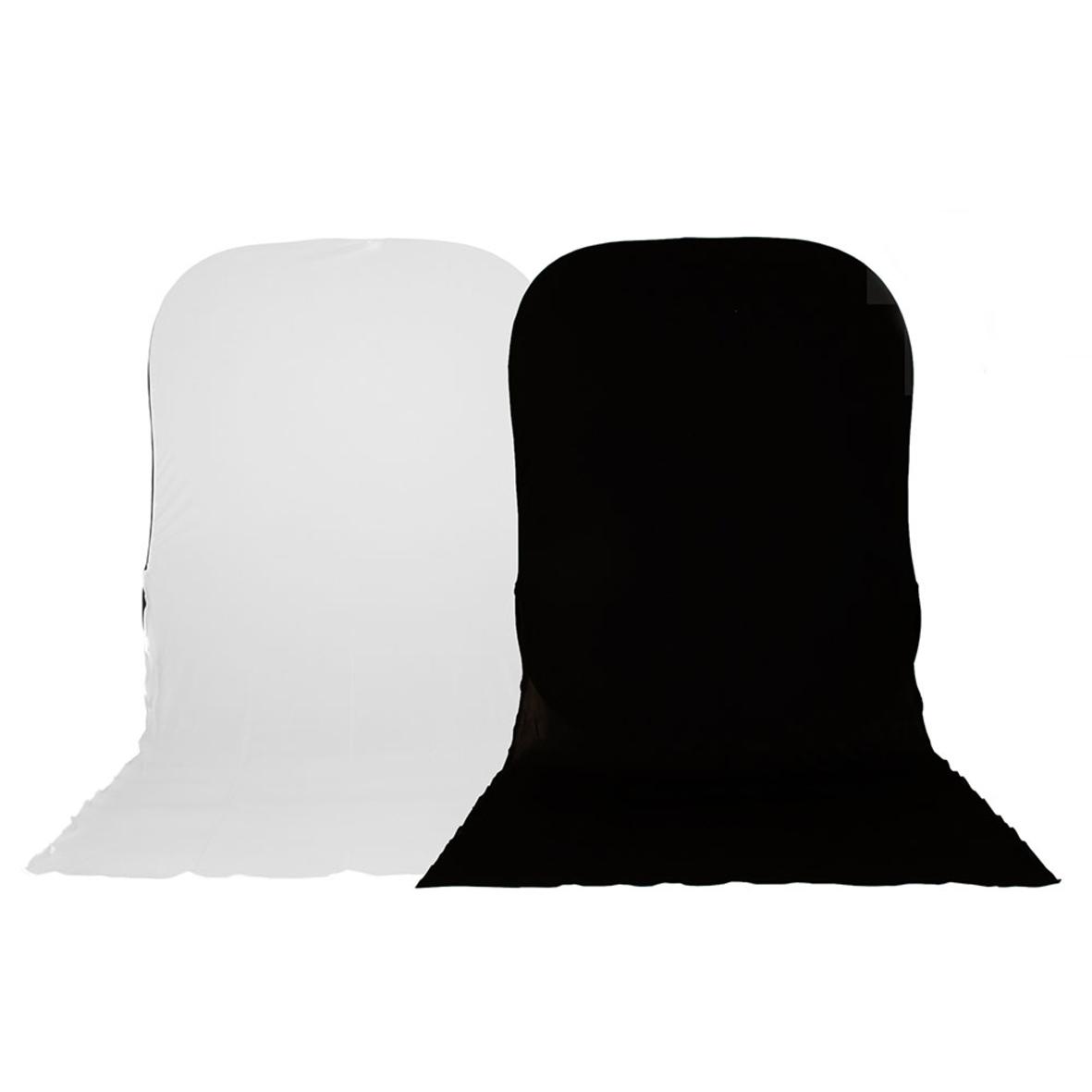 Lastolite Twist Flex Hintergrund 1,8 x 2,1m schwarz / weiß mit 1,5m Boden