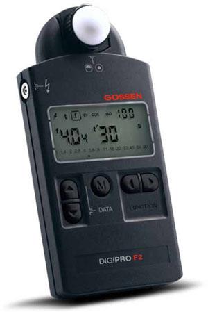 Gossen DIGIPRO F2 Belichtungsmesser mit Schwenkkopf für Blitz- und Dauerlicht