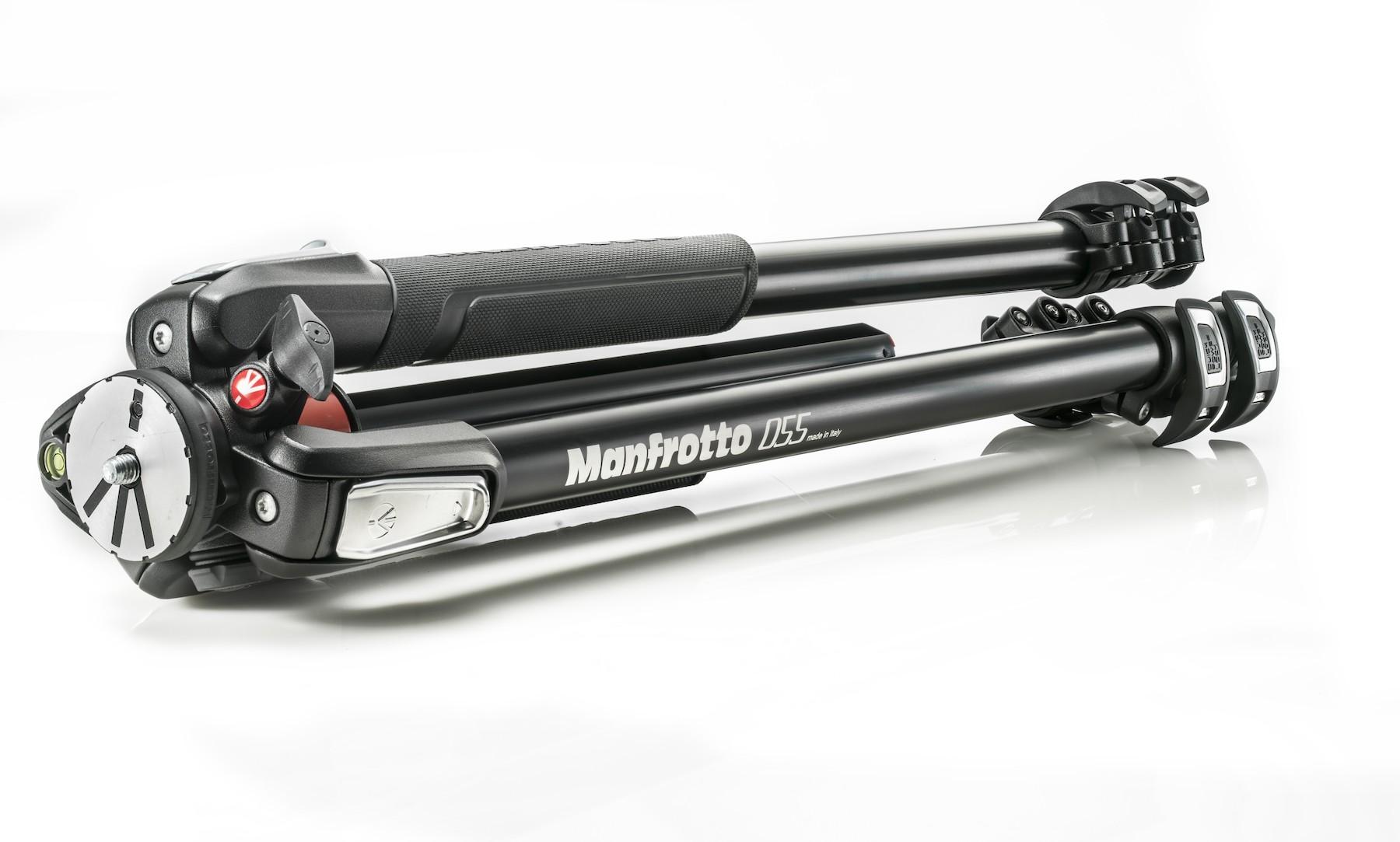 Manfrotto MT055XPRO3 Stativ (3 Segmente) + MHXPRO-BHQ2 Kugelkopf aus Magnesium