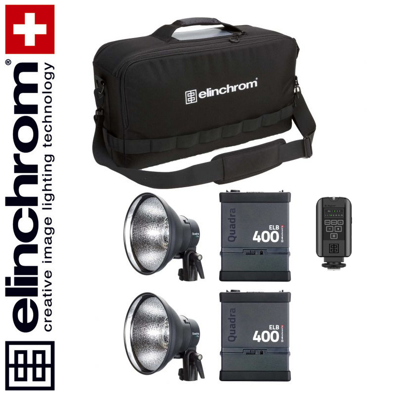 Elinchrom ELB 400+ELB 400 - ACTION TWIN Set (LI-ION) --ACTIONFREEZE--