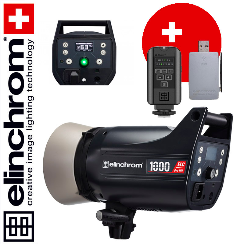 Elinchrom ELC Pro HD 1000 (1000 Ws) + Skyport USB RX MK-II + Skyport PLUS Sender