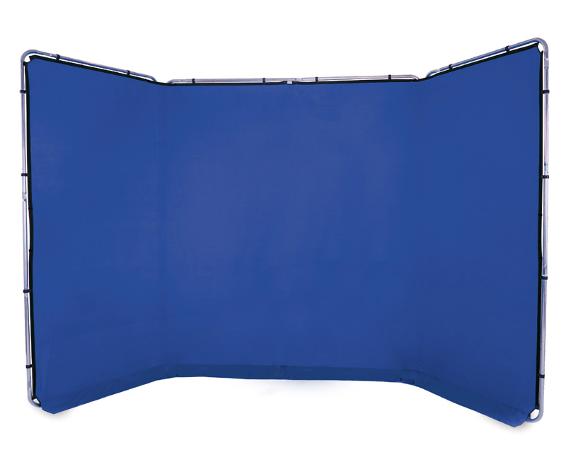 Lastolite Panorama Hintergrundsystem 4 x 2,3m, Bluebox blau, LL LB7943